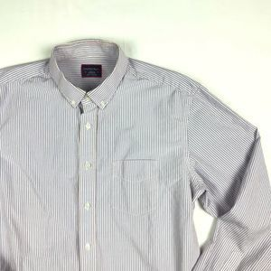 UNTUCKit Striped Button Down Long Sleeve Shirt